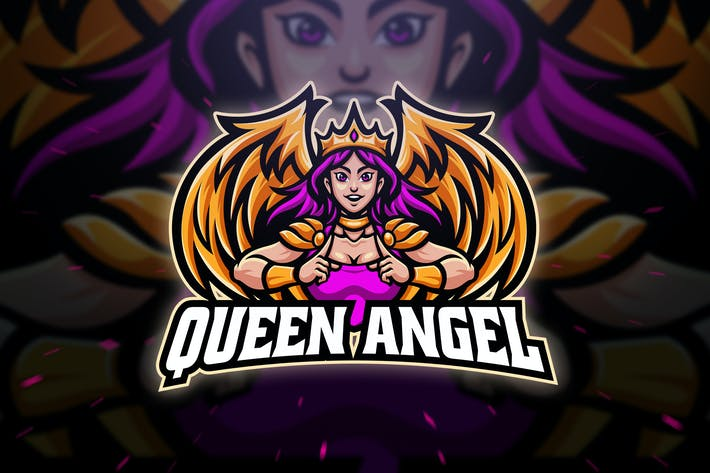 Thumbnail for Queen Angel Sport and Esport Logo Template