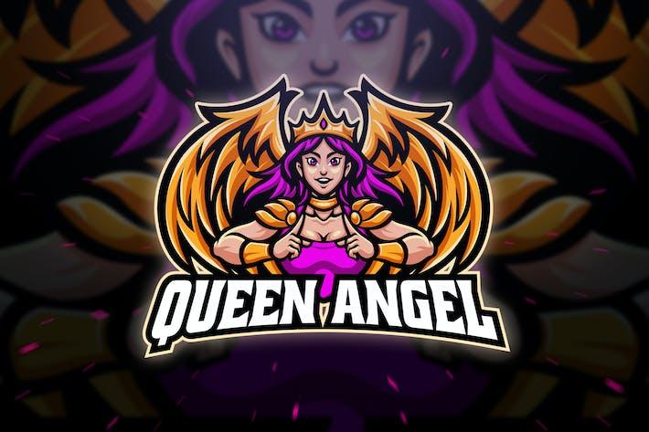 Thumbnail for Королева Ангел Спорт и Esport Шаблон логотипа