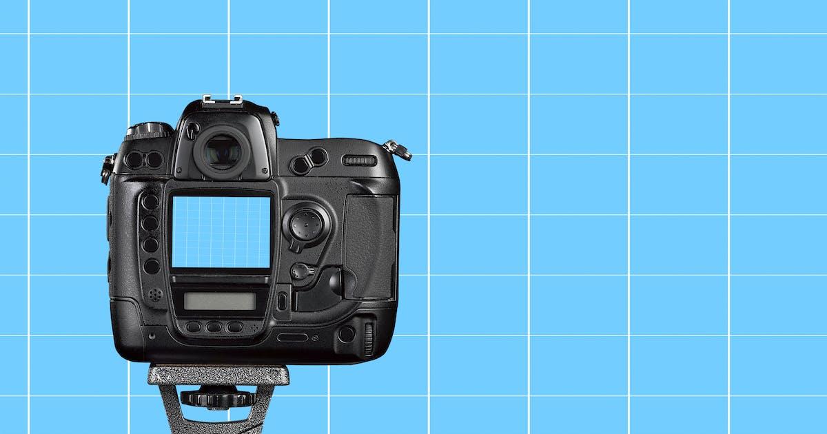 Download Photo camera mockup by pbombaert