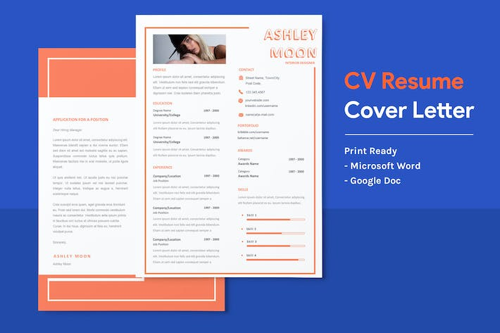 Thumbnail for Ashley- CV Resume Template