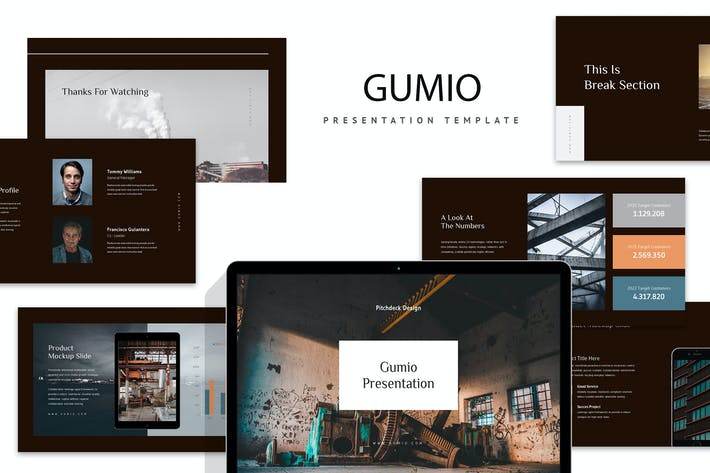 Thumbnail for Gumio : Pitch Deck Keynote
