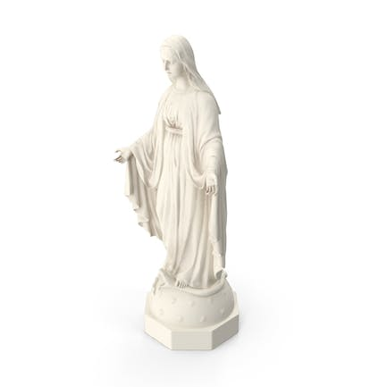 Blessed Virgin Mary Statue Marble