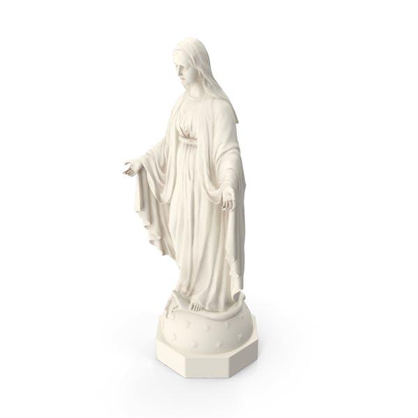Selige Jungfrau Maria Statue Marmor