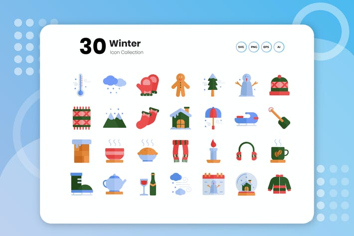 Thumbnail for 30 Winter Flat Icon