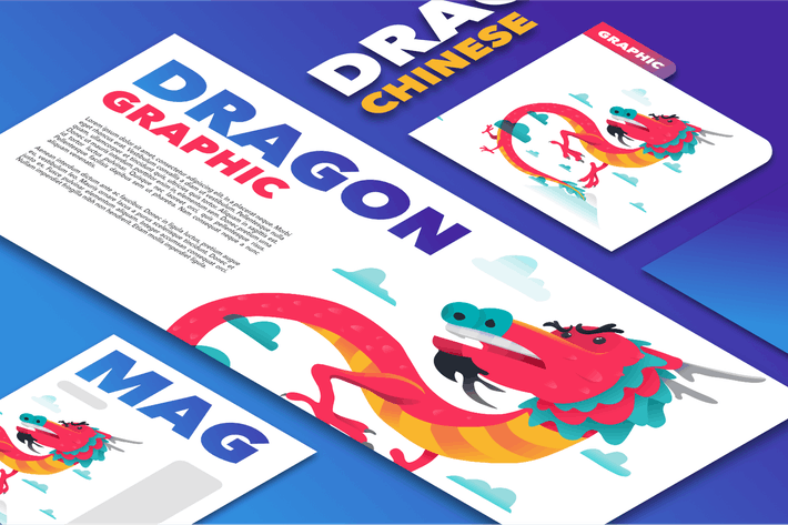 Thumbnail for Chinese Dragon mockup template