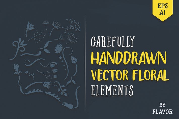 Thumbnail for handdrawn vector floral