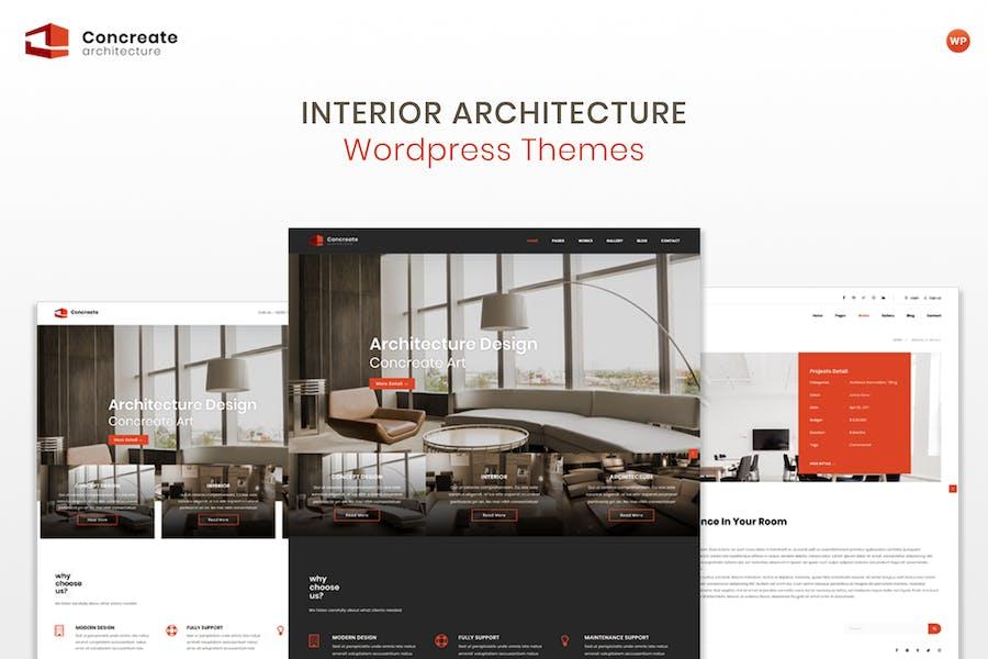 Concreate - Arquitectura Interior WordPress Tema