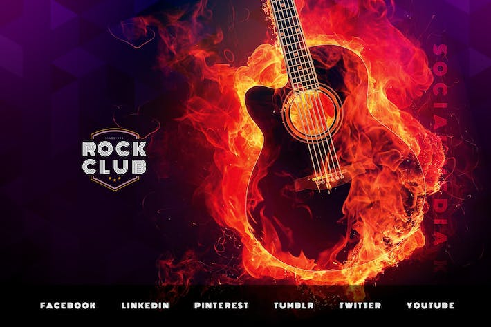 Thumbnail for Rock Club & Party – Social Media Kit