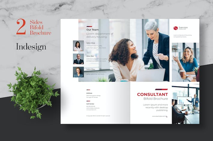 Thumbnail for Clean Consulting Bifold Brochure