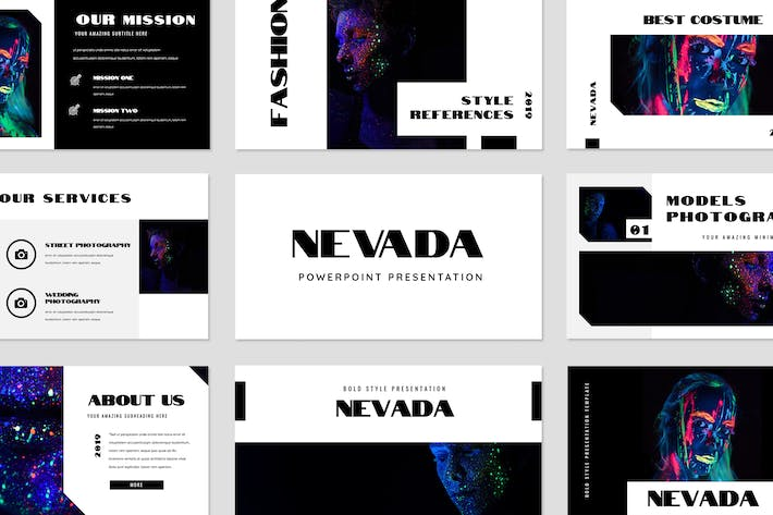 Cover Image For Nevada Powerpoint Presentation
