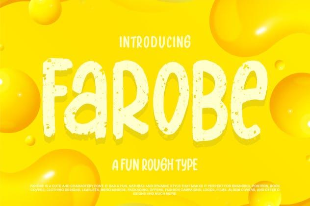 Farobe   A Fun Rough Type