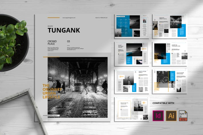 Thumbnail for Tungank | Magazine Template