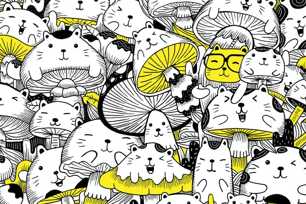 Cats and Mushroom