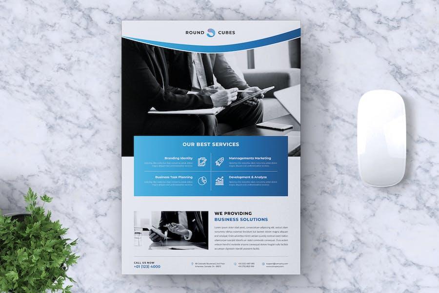 ROUNDCUBES Multipurpose Business Flyer