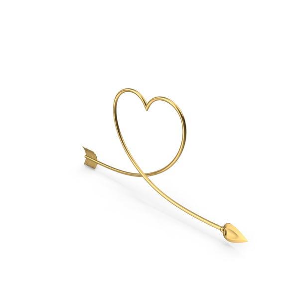 Thumbnail for Golden Arrow Heart