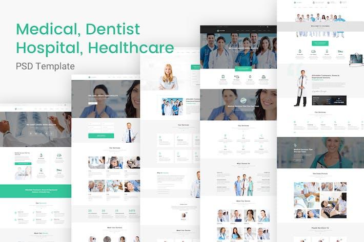Thumbnail for Columba - Medical PSD Template