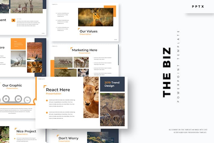 Thumbnail for The Biz - Powerpoint Template
