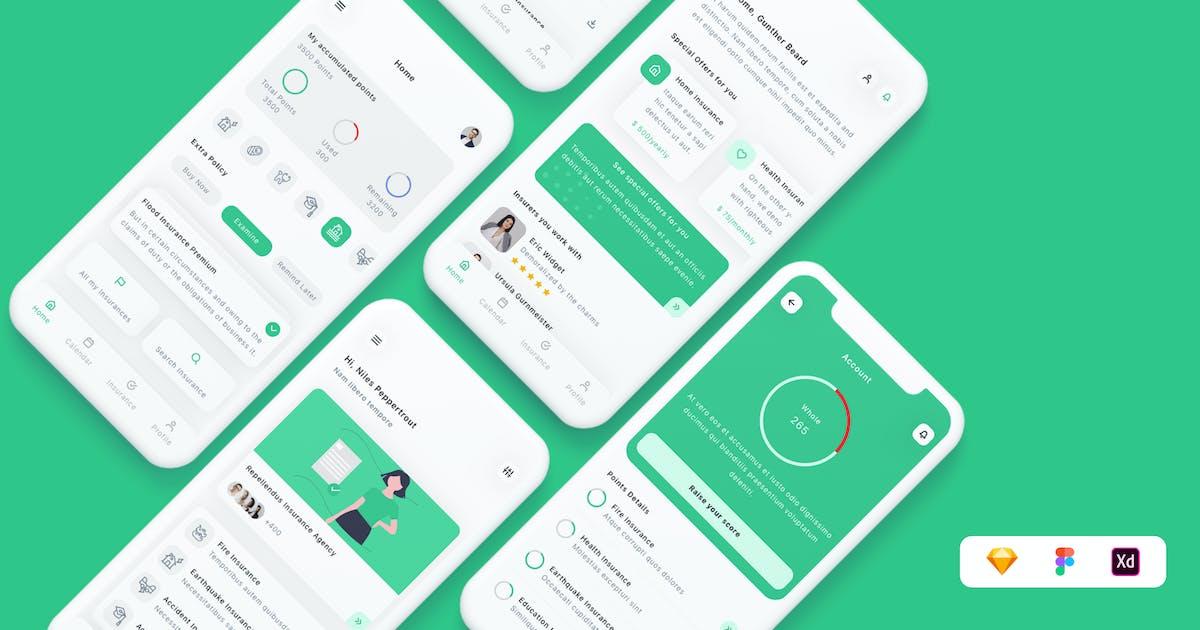Download Insurance App UI Kit by betush