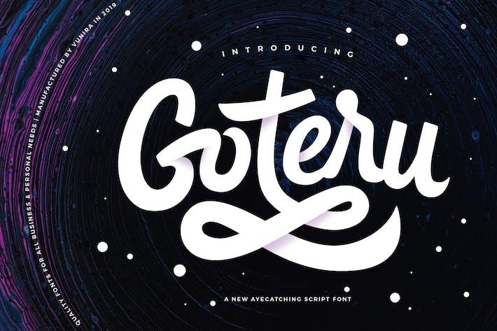Thumbnail for Goteru | Eyecatching Script Font