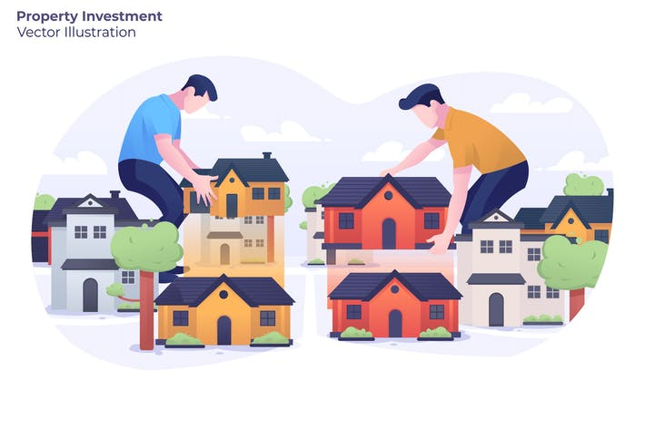 Property Investment - Vector Illustration