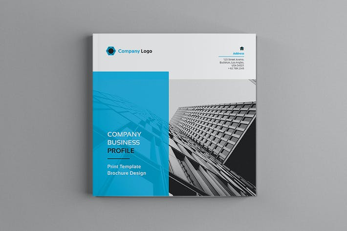 Cover Image For Hilih - Square Company Profile Brochure Template
