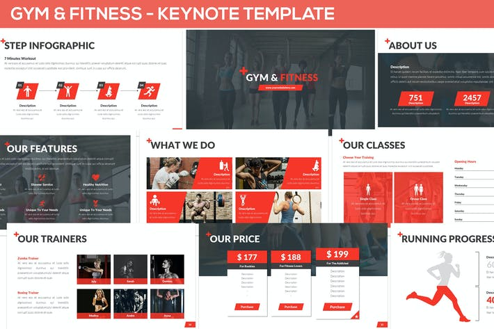 Thumbnail for Gym & Fitness - Keynote Template