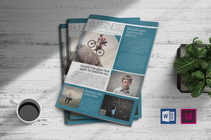 Thumbnail for Business Newsletter Template 01