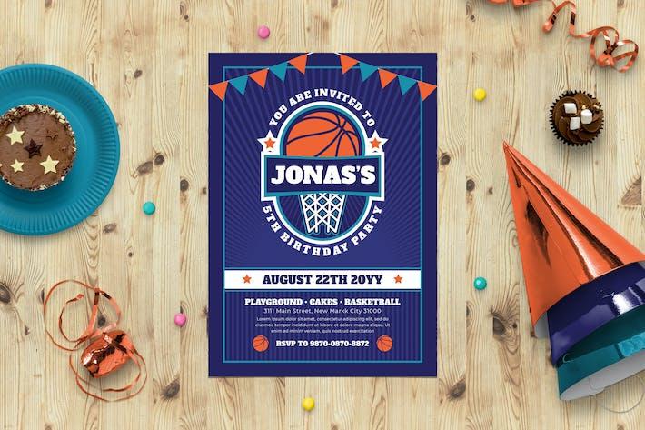 Thumbnail for Basketball Birthday Bash invitation