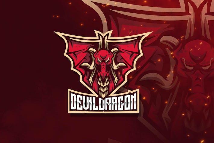 Thumbnail for Devil Dragon Esport Logo Template