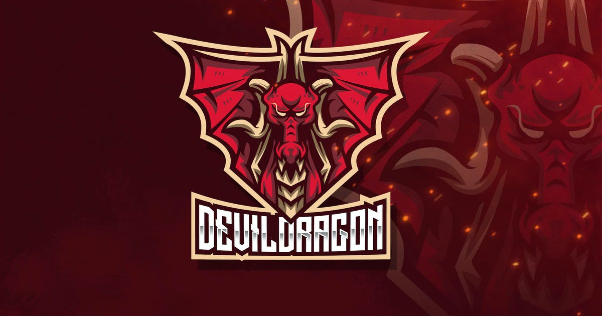 Download Devil Dragon Esport Logo Template by StringLabs