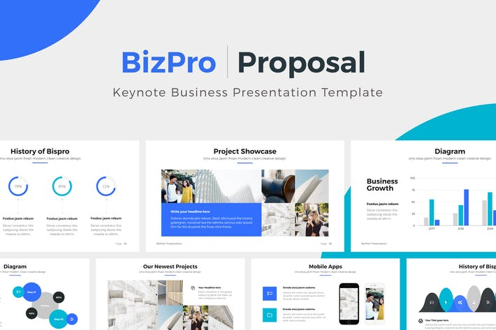 Thumbnail for BizPro | Proposal Keynote Template Presentation