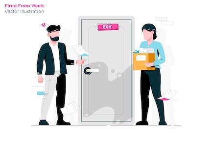 Fired Work - Vector Illustration