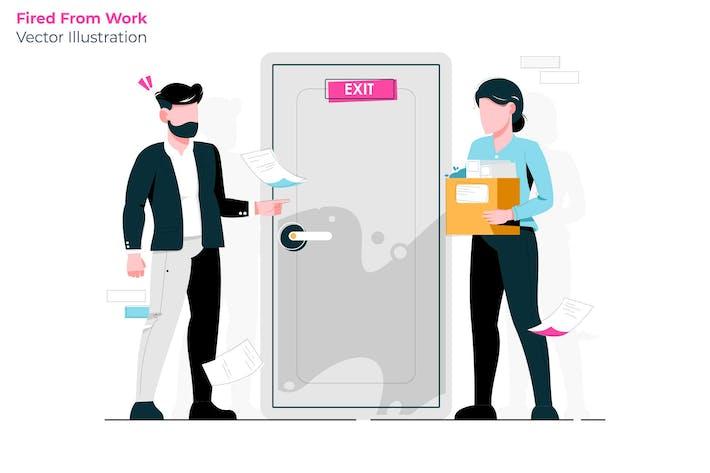 Thumbnail for Fired Work - Vector Illustration
