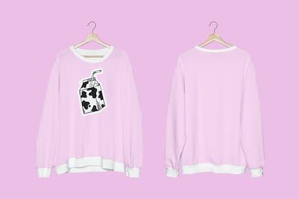 Sweater mockup psd unisex streetwear apparel