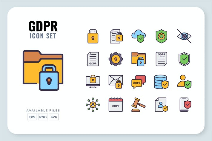 Thumbnail for GDPR Icon Set