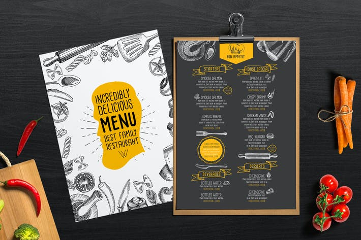 Thumbnail for Food Menu Template