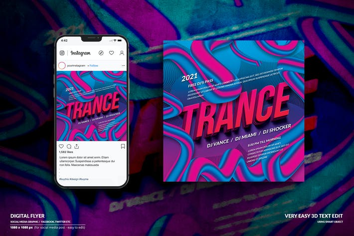 Thumbnail for Online Musik Event Digitale Flyer - Soziale Medien