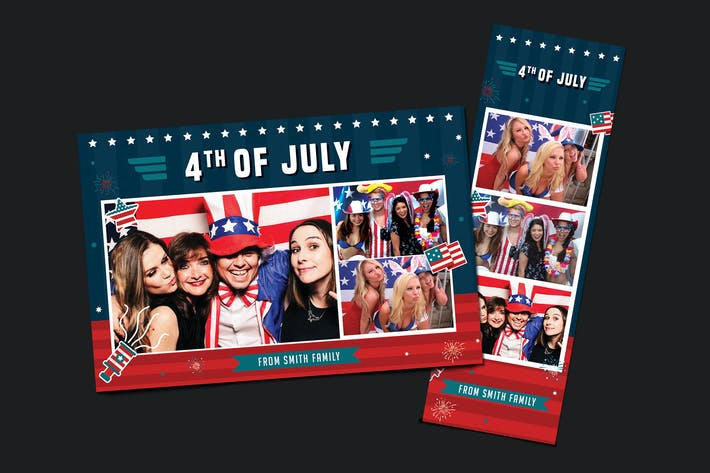 Thumbnail for 4th of July Photo Booth Template