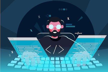 Entwickler-Illustration