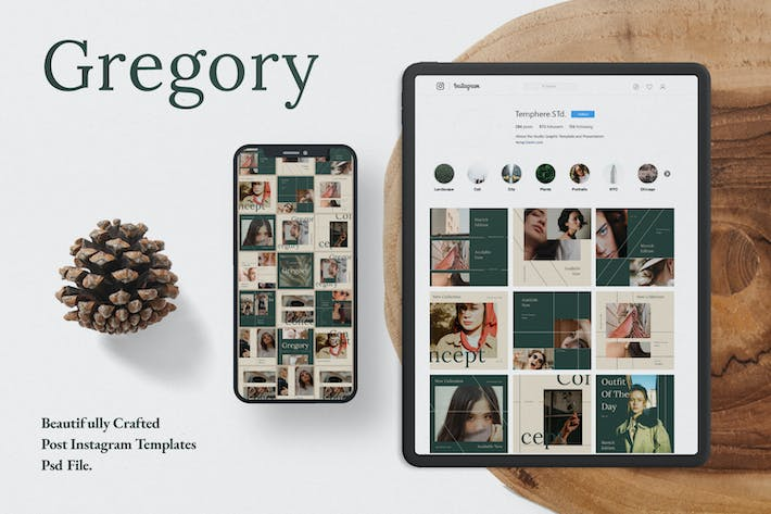 Thumbnail for Gregory Business Social Media Template + Stories