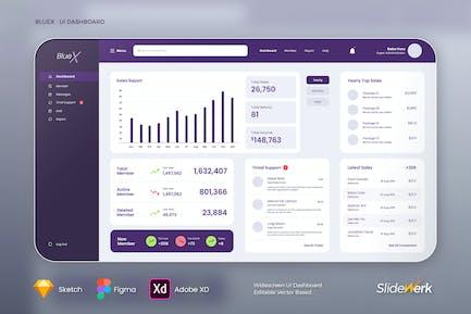 BlueX UI Dashboard - Slidewerk