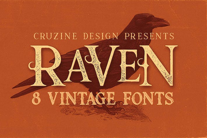 Thumbnail for Raven Typeface