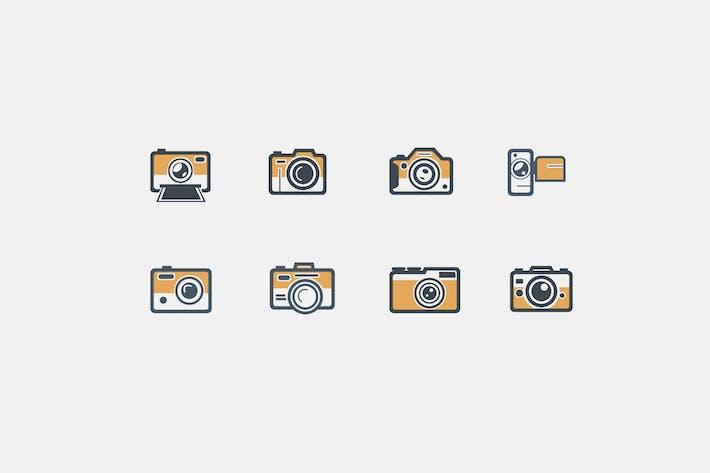 Thumbnail for 8 Retro Camera Icons