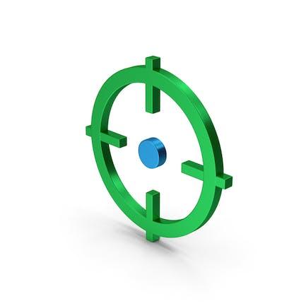Symbol Aim Green Metallic