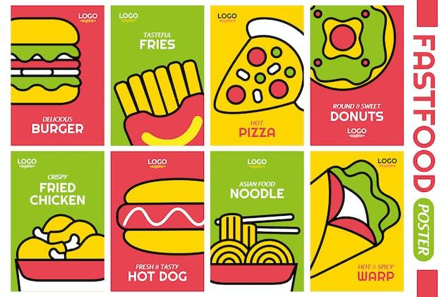Fastfood Poster Vector Illustration