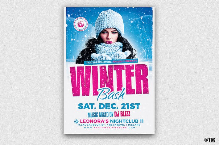 Thumbnail for Winter Bash Flyer Template V4