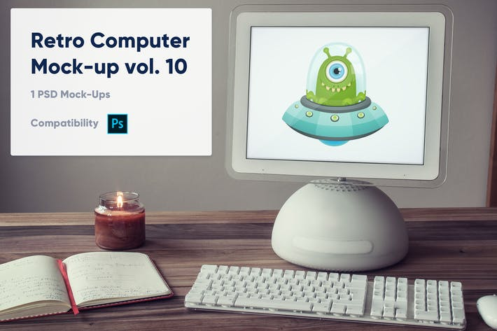 Thumbnail for 1 Retro Computer Mockup vol. 10