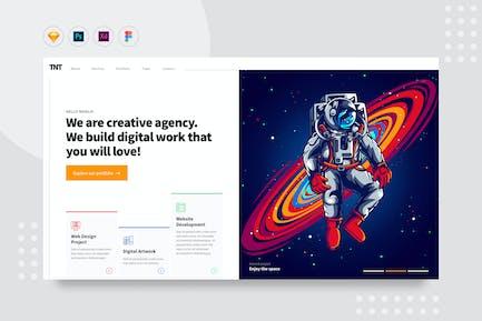 DailyUI.V24 - Creative Digital Agency Website UI