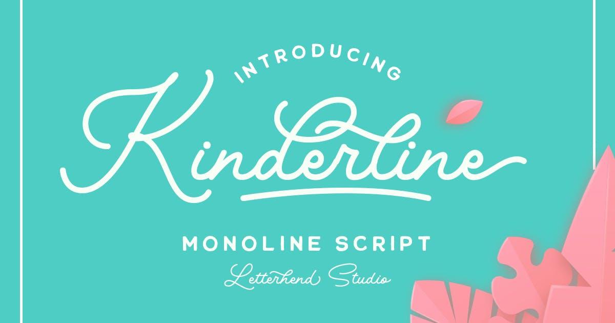 Download Kinderline - Joy & Playful Script by letterhend