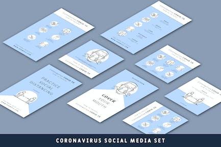 Coronavirus Social Media Set